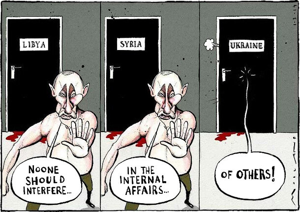 Noone Should Interfere... — The Times, March 1, 2014 © Morten Morland