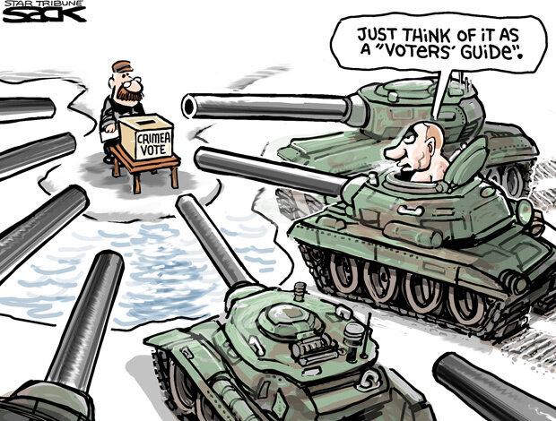 Crimea referendum — Star Tribune, March 14, 2014 © Steve Sack