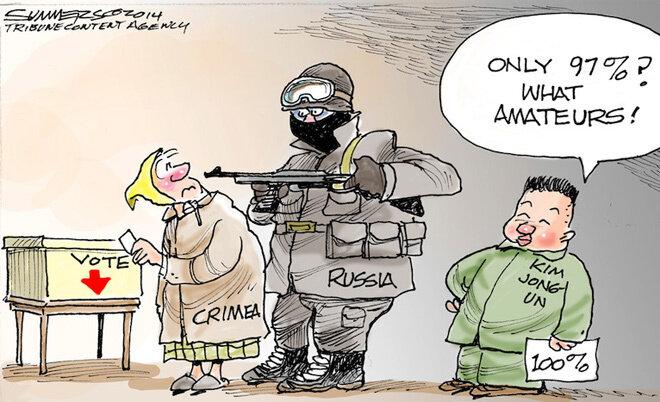 Crimean referendum © Dana Summers, Tribune Content Agency
