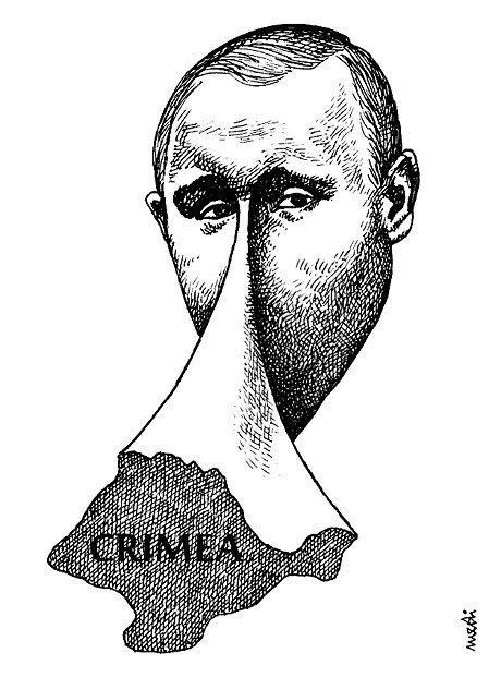 Putin nose © Medi Belortaja