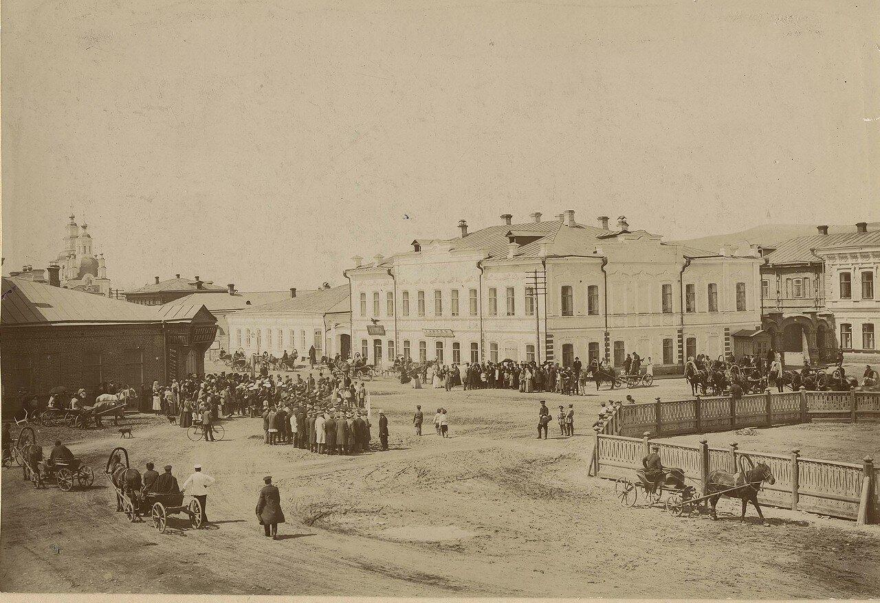 Фрагмент Владимирской площади на пересечении улицы Воскресенской и Дубенского переулка. Конец 1880-х