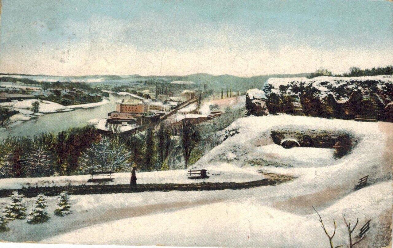Зимний вид Замковой горы