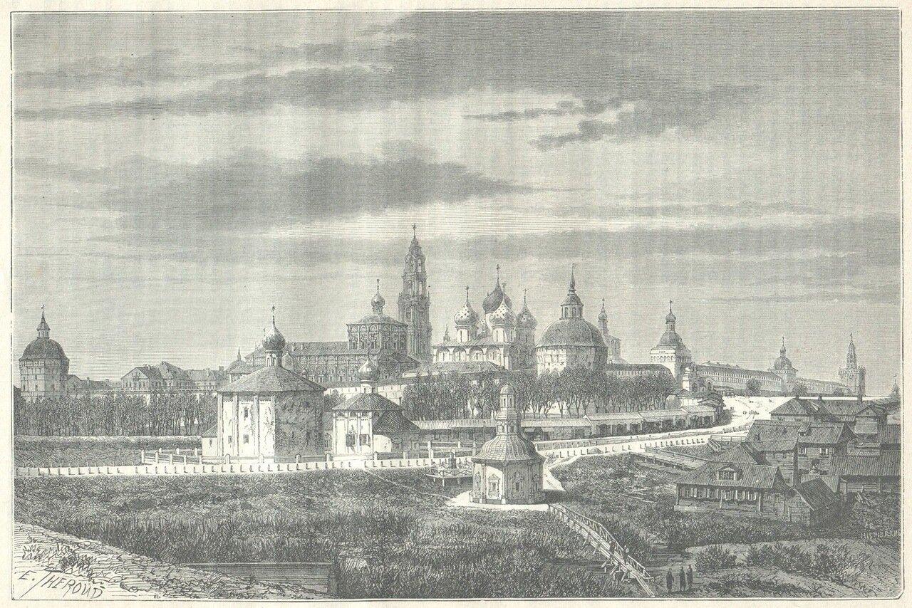 1872. Троице-Сергиев монастырь. Общий вид