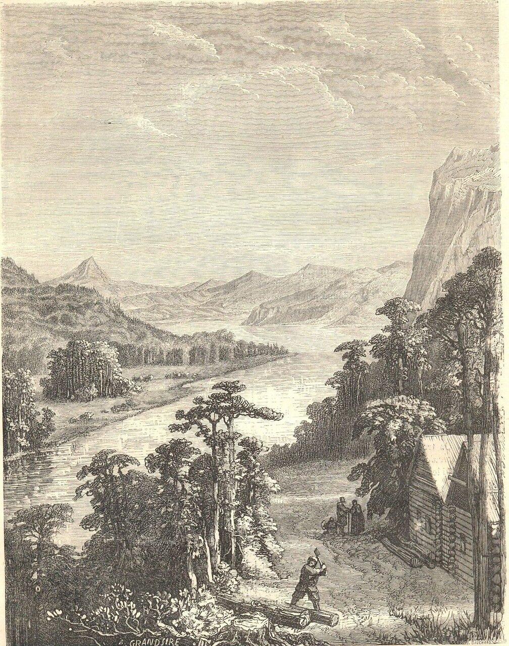 1860. Вид Амура с Хинганских гор