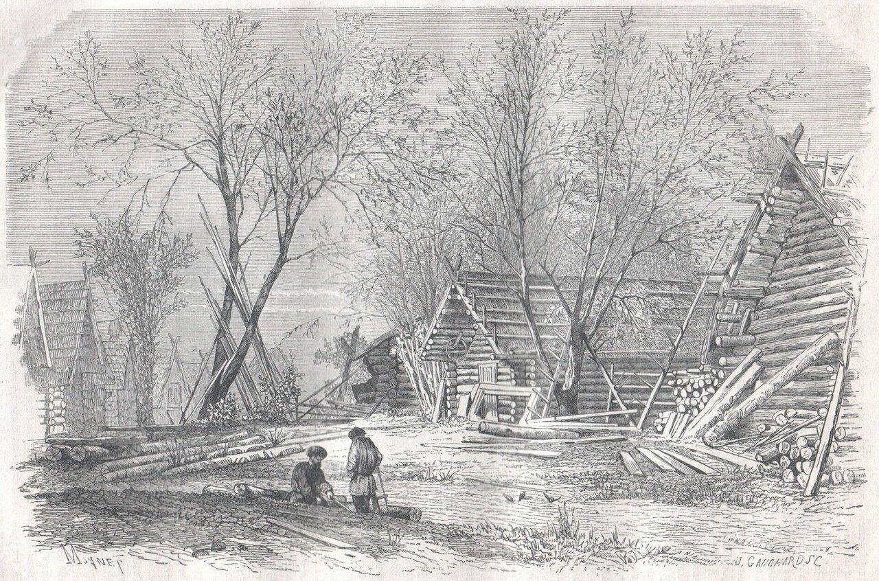 1867. Русская деревня на берегах Волги