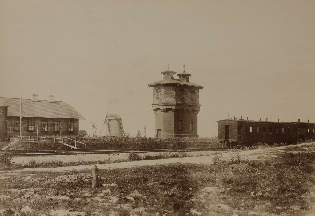 Венден. Водонапорная башня на вокзале