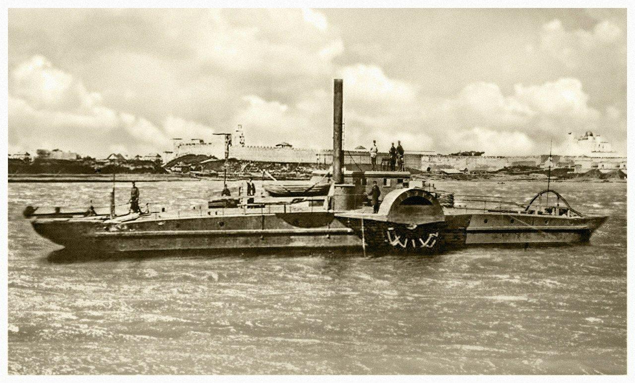 Первый колесный пароход «Тауэр». 1877