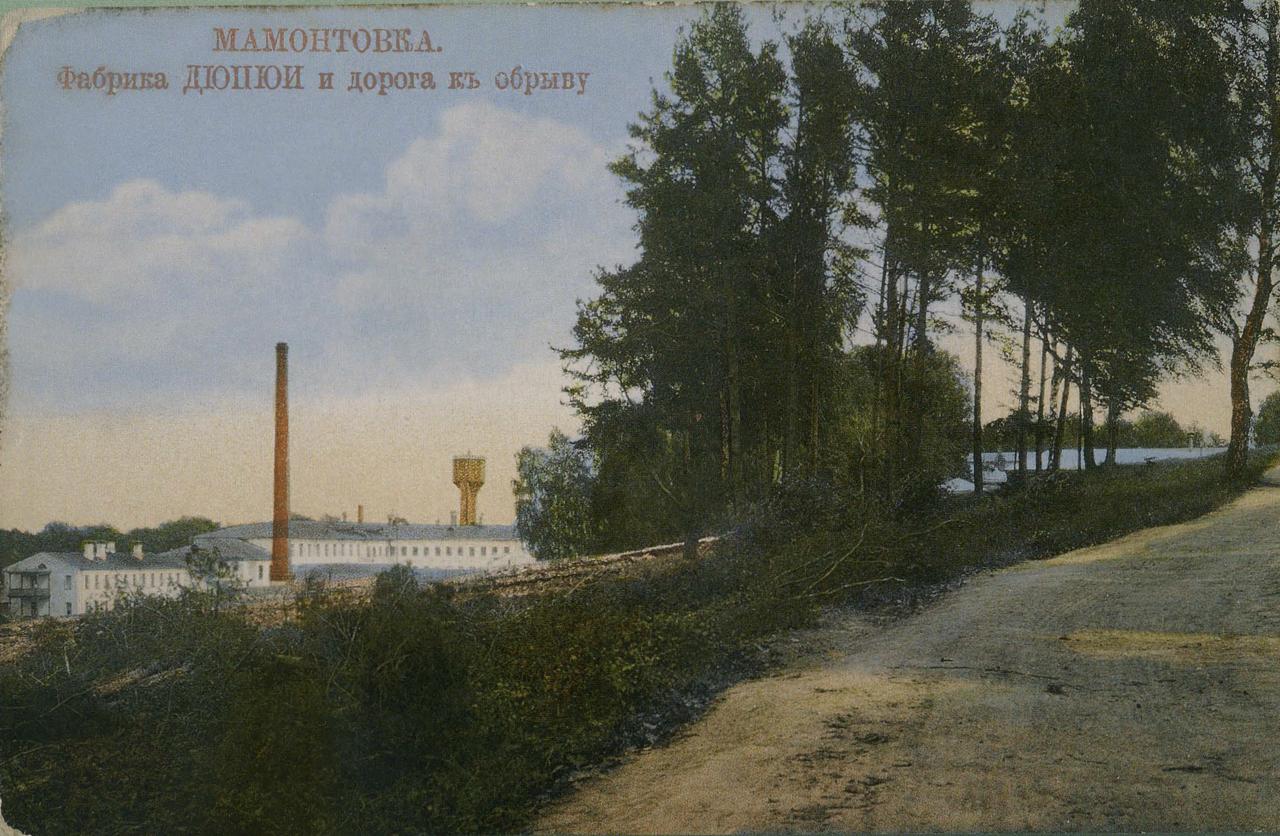 Окрестности Москвы. Мамонтовка. Фабрика Дюпюи и дорога к обрыву