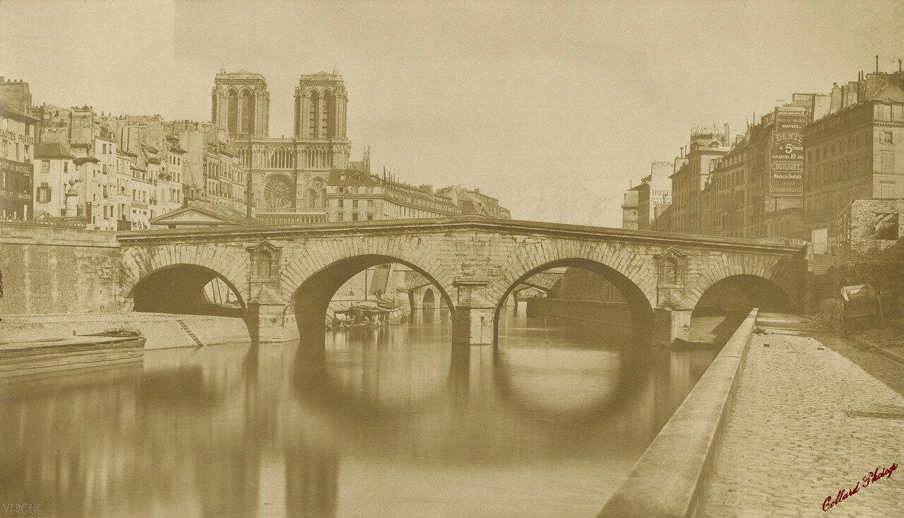1857. Вид на старый мост Сен-Мишель, снятый 12 мая