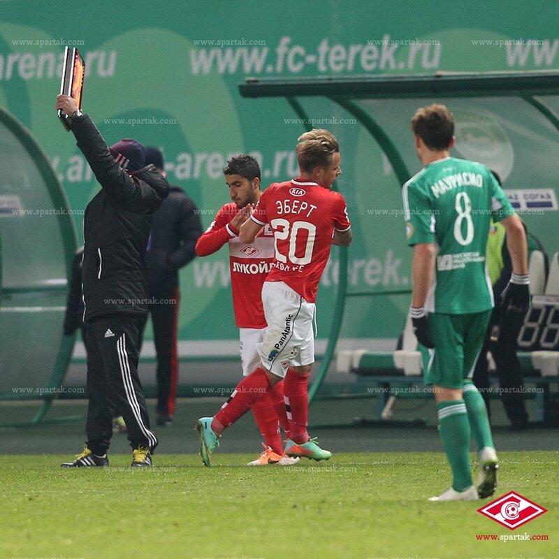 «Терек» vs «Спартак» 1:0 Премьер-лига 2013-2014 (Фото)