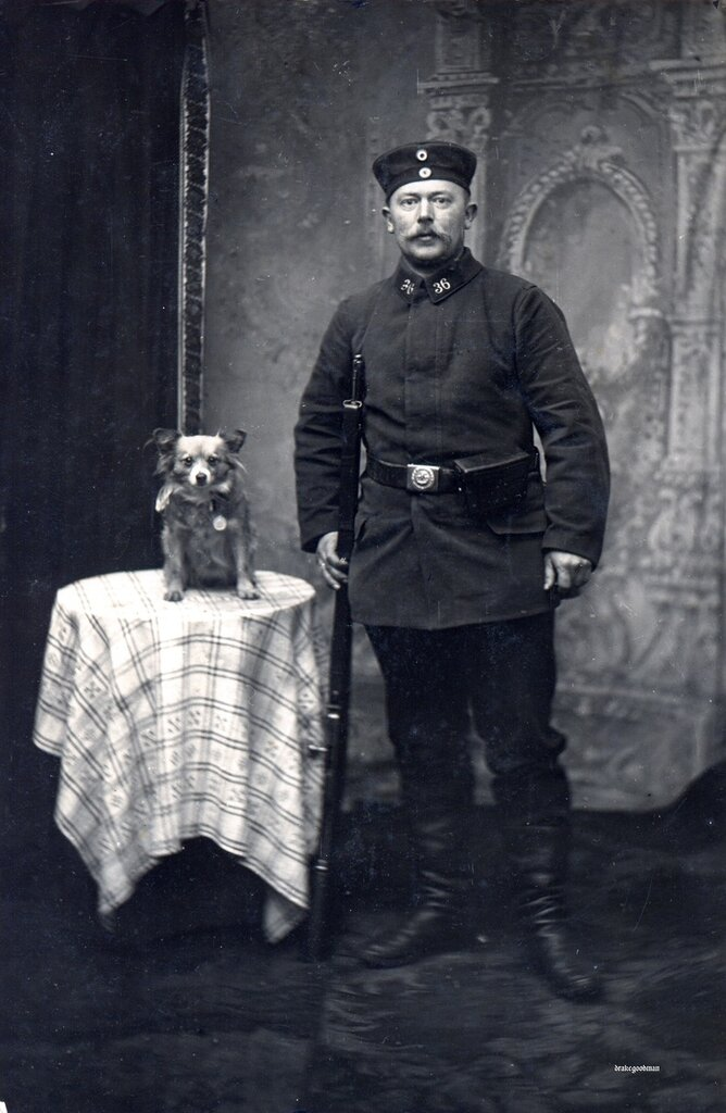 Landsturmmann from the 36th Infanterie Brigade soldier and friend
