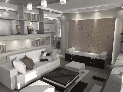 Ремонт однокомнатной квартиры, рассчитанной для проживания троих