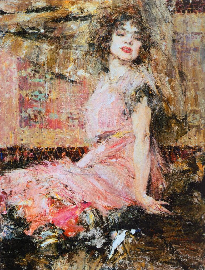 Дама в розовом (Портрет Н.Подбельской) (1912).jpg