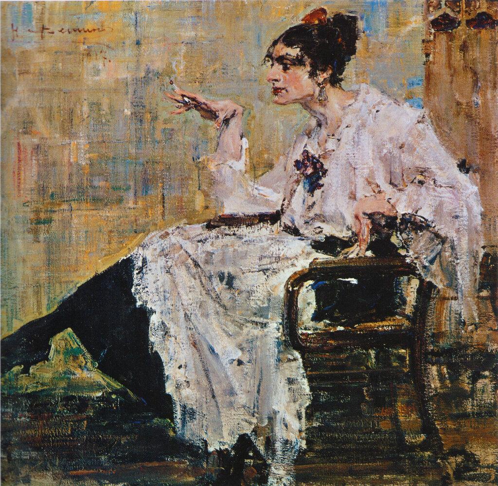 Женщина с сигаретой (1917).jpg
