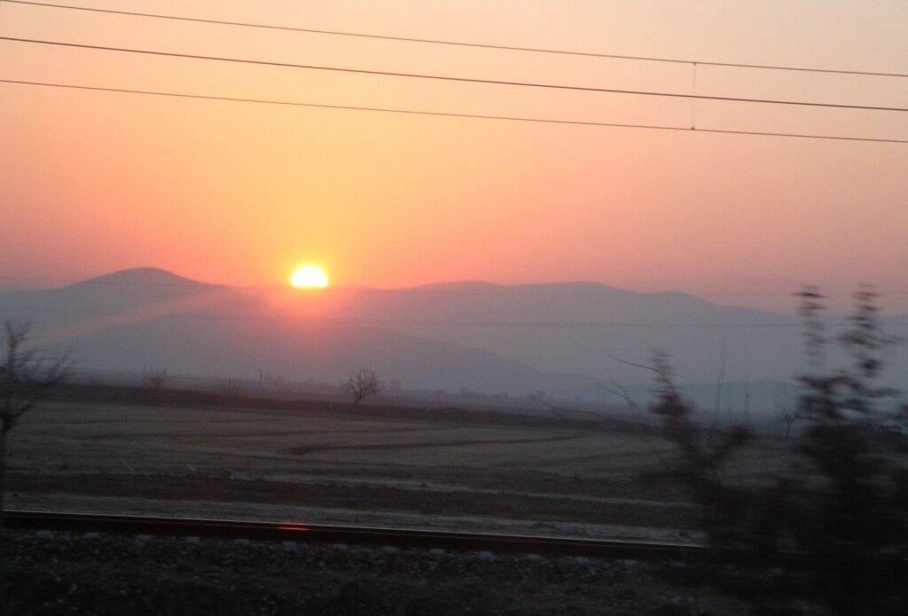 Восход в пути