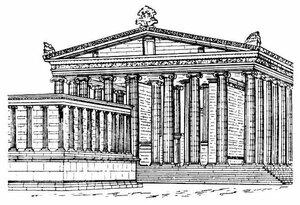 Храм Артемиды в Магнесии-на-Меандре, реконструкция внешнего вида