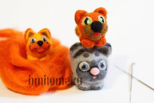 Мастер-класс Валяный котёнок