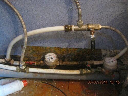 Пришлось слегка модернизировать водопровод в ванной