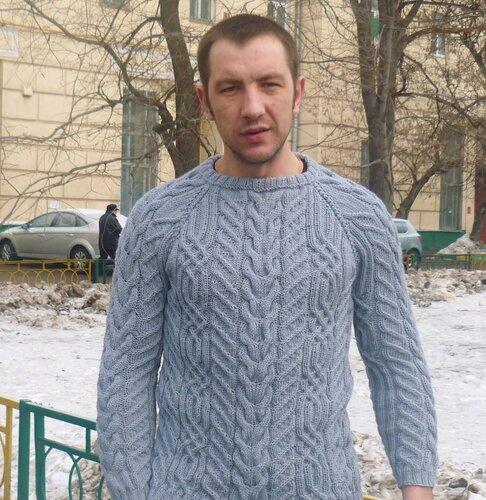 свитер мужской вязание на заказ Москва