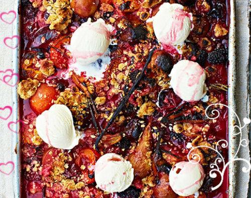 Рецепты ко дню св. Валентина от Джейми! Десерт - запеченные фрукты