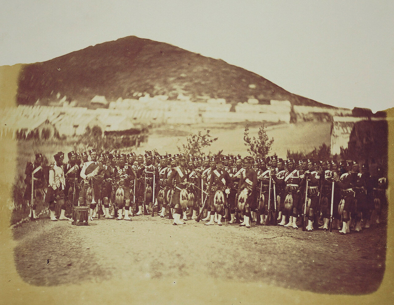 Хайлендский полк в лагере