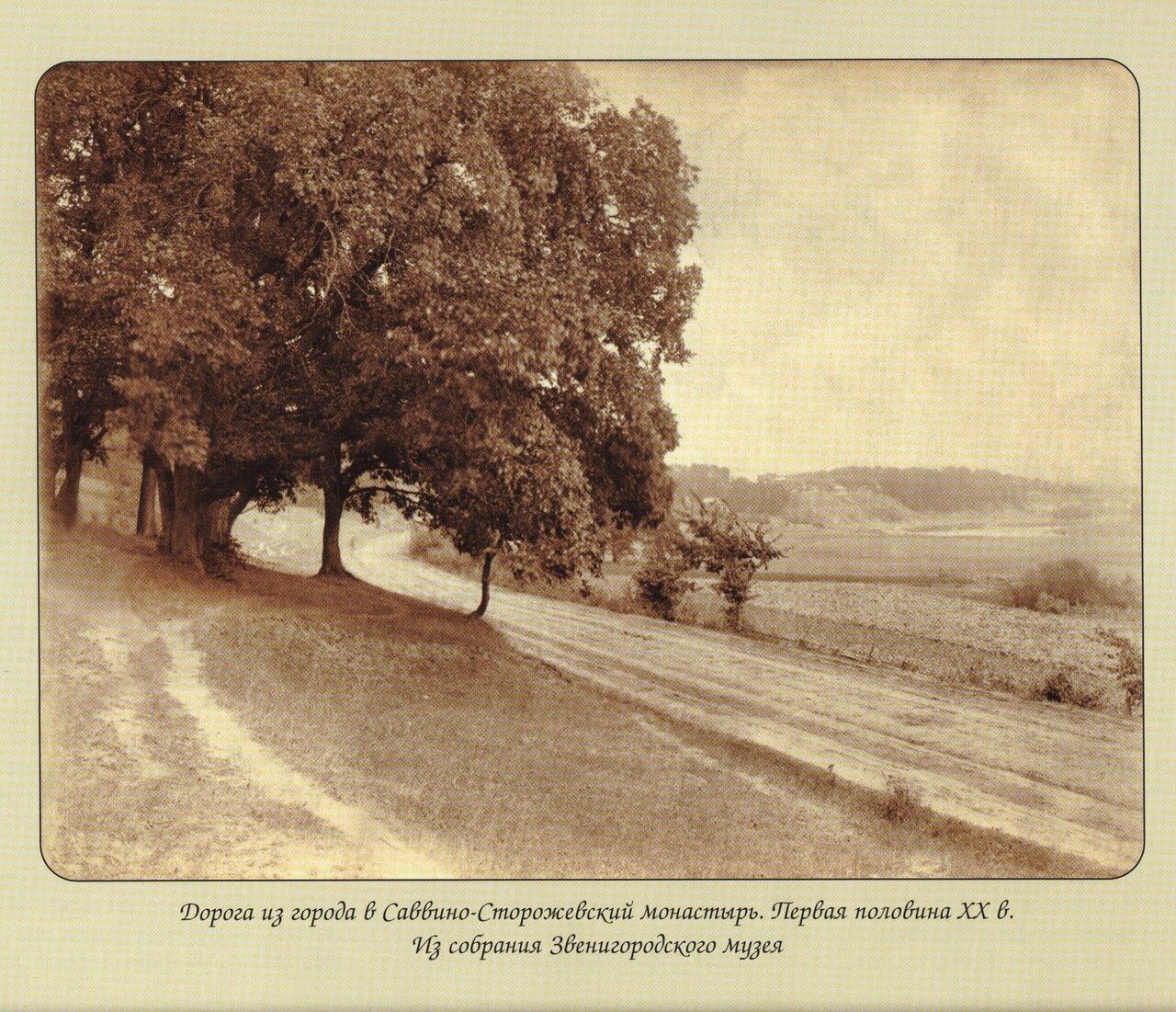 Дорога из города в Саввино-Сторожевский монастырь