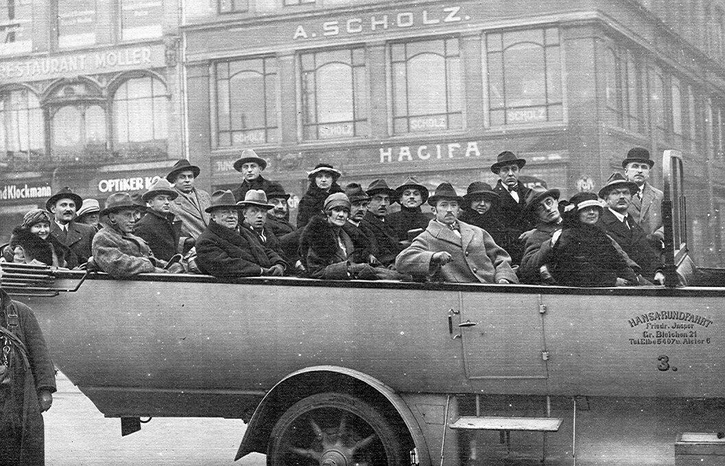 1923. Гамбург, угол Юнгфернштиг и Гроссе Блай-хен