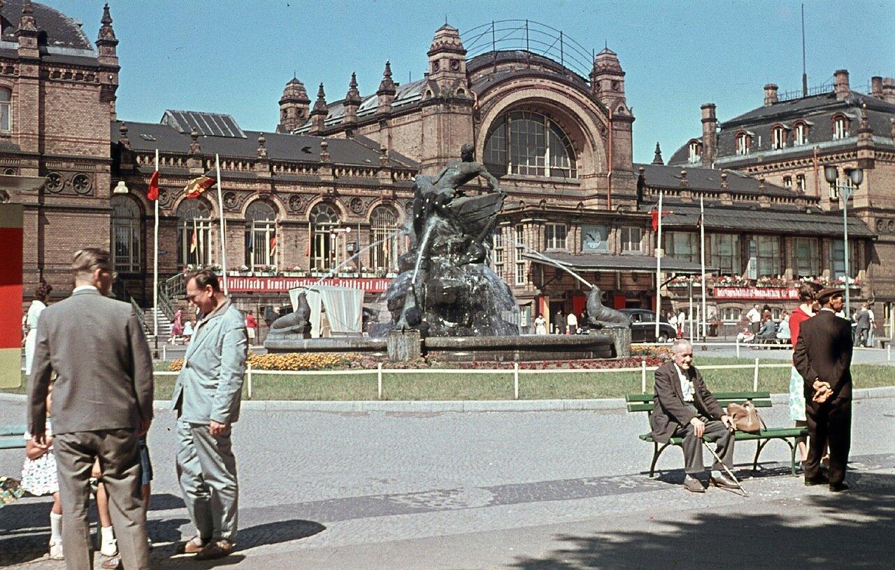 1960. Шверин, главный железнодорожный вокзал