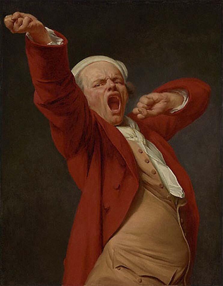 Автопортрет, Зевая__ не позже чем 1873, Жозеф Дюкрё (1735-1802);