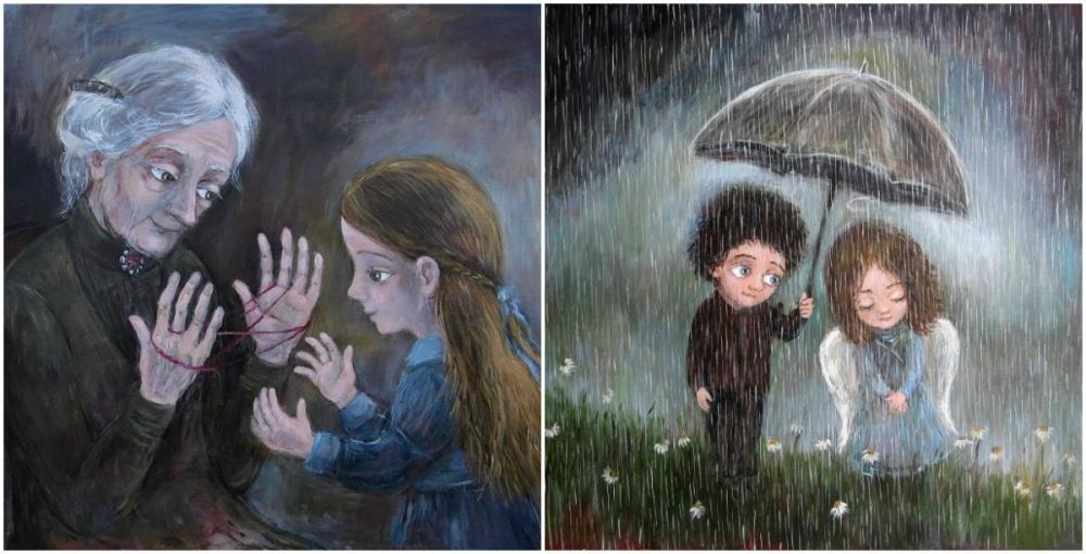 Тепло детских воспоминаний— вот что ощущаешь, когда смотришь наработы современной грузинской худож