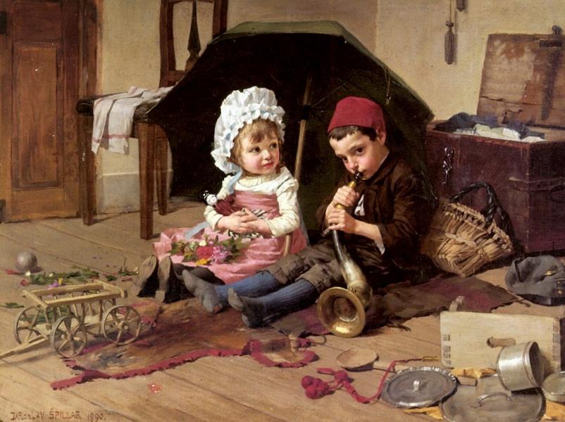 Jaroslav Spillar (1869-1917) Playtime.jpg