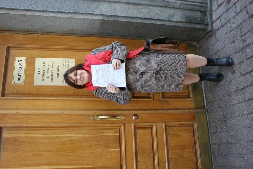 Юлия Галямина передала в мэрию подписи за восстановление рынка