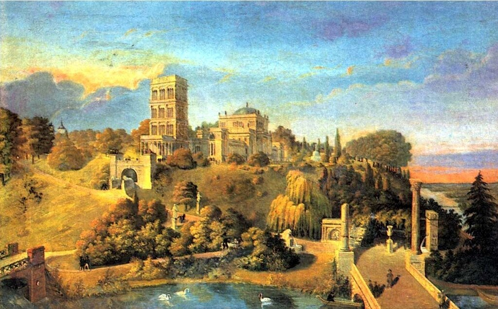 Гомель, Гомельский парк, Дворец Румянцевых-Паскевичей, картина Идзковского
