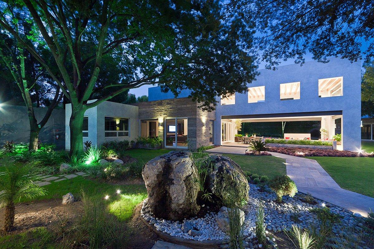 Casa Valle, реконструкция частного дома, Arq. Bernardo Hinojosa, частные дома в Мексике, роскошные дома в Нуэво-Леон, дом с открытой планировкой