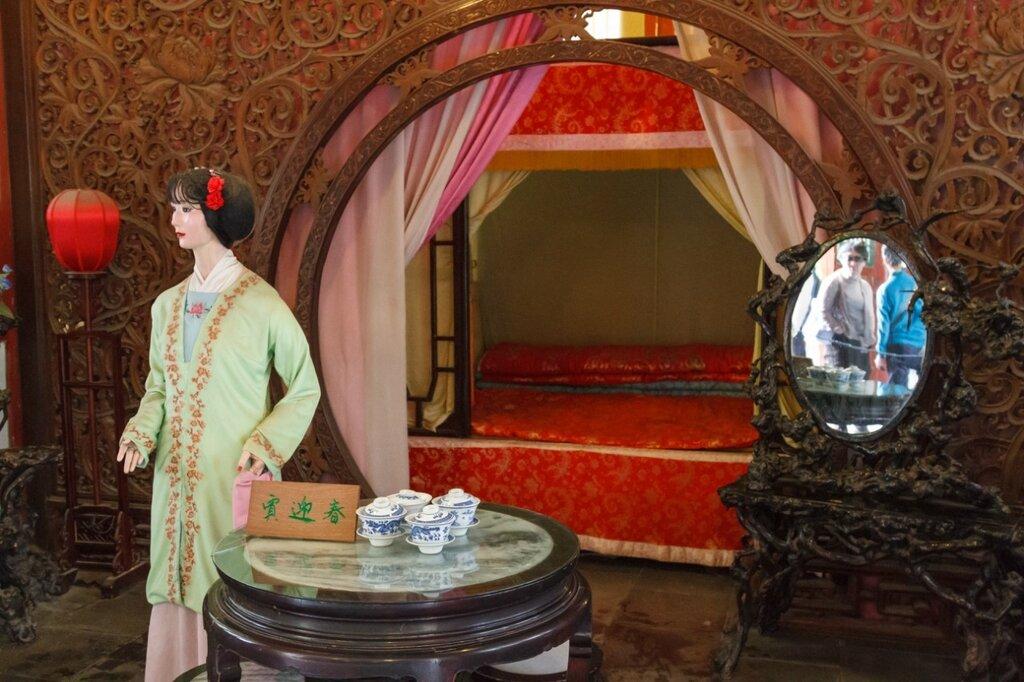 китайская спальня, китайский интерьер