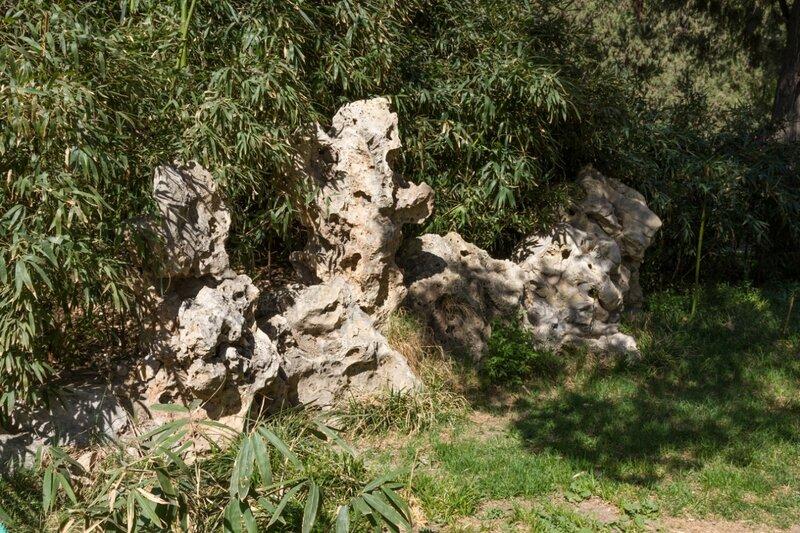 Бамбук и камни причудливых форм, Парк Цзиншань, Пекин,