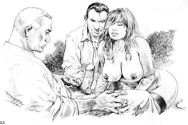 Порно рисунки мжм