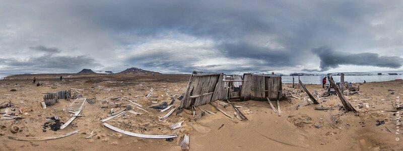 Место стоянки Ирвина Болдуина на острове Алджера