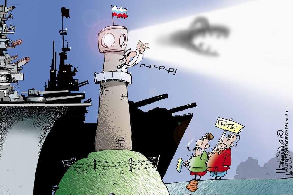 Россия и Украина - Карикатурист Виталий Подвицкий  (31)