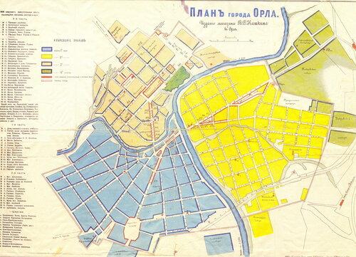 План Орла начла ХХ века.