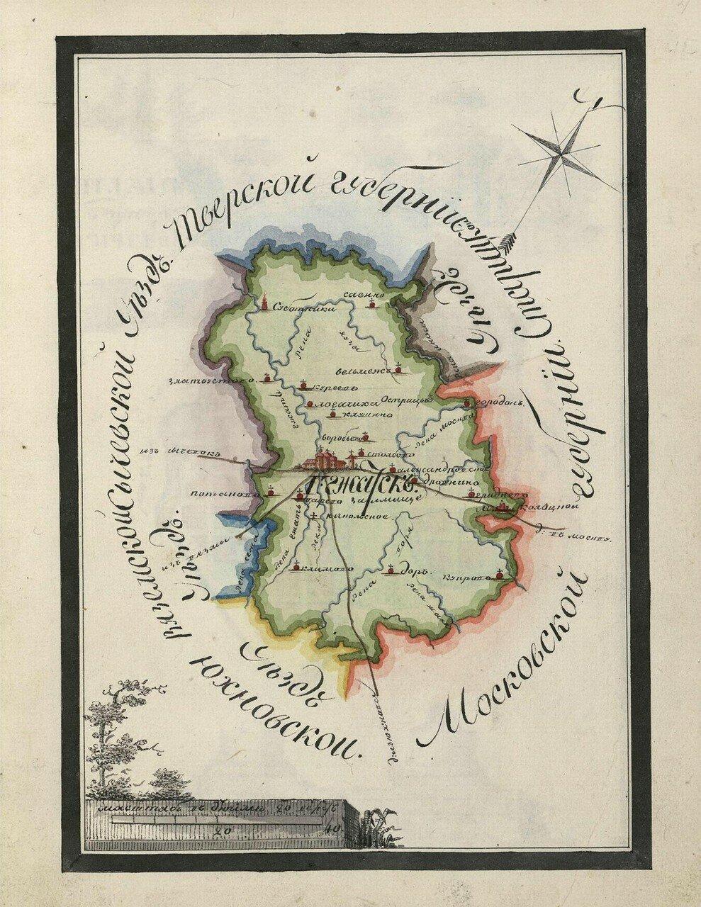 Карта Гжатского уезда