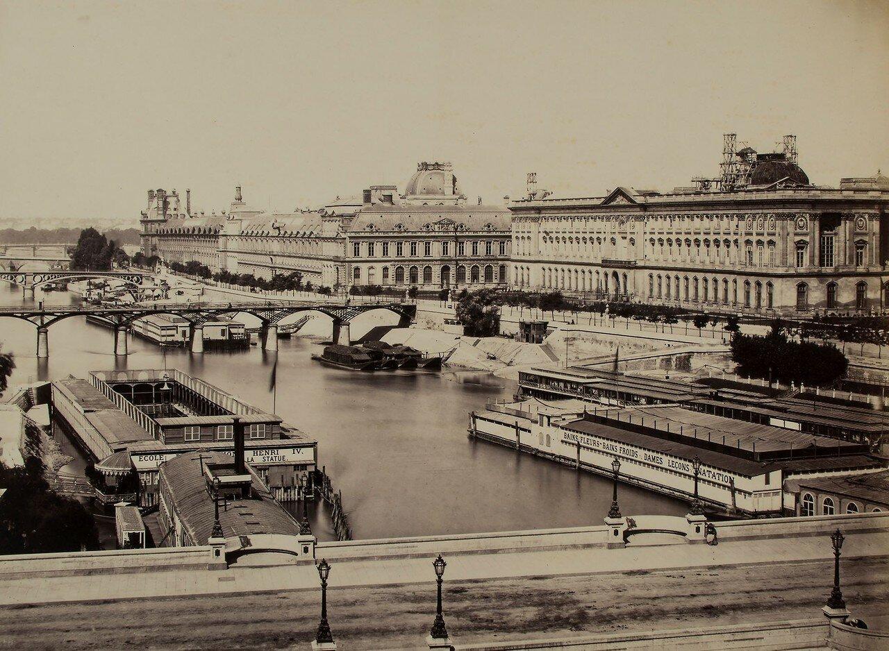 1855. Лувр. Общий вид с моста Изящных искусств