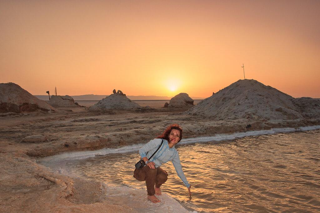 Рассвет на озере Шотт-эль-Джерид