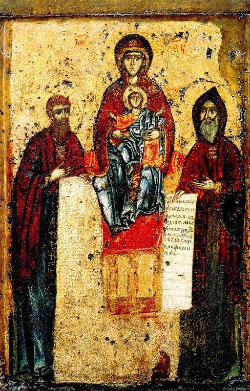Чудотворная Свенская Печерская икона Божией Матери. Конец XI века.