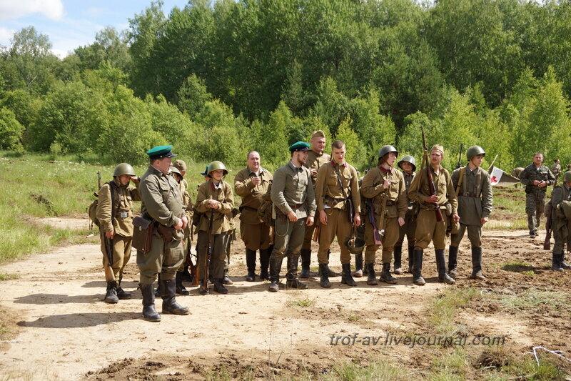 Построение красноармейцев. 22 июня, реконструкция начала ВОВ в Кубинке (2 часть)