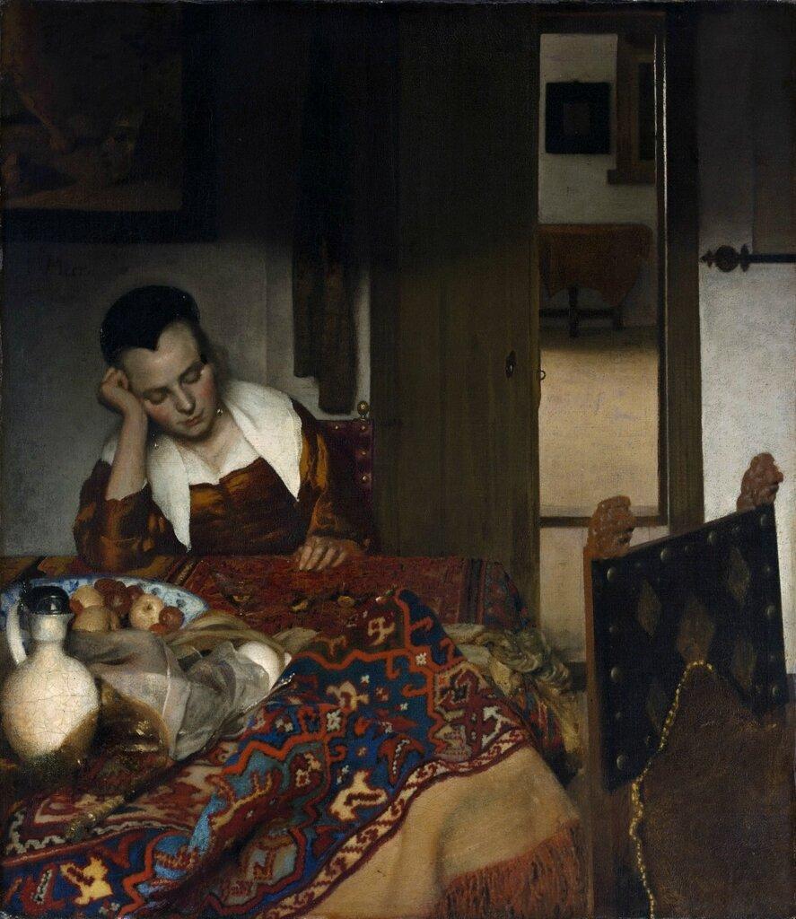 Спящая девушка Музей Метрополитен, Нью-Йорк (Metropolitan Museum of Arts, New York).<br /> 1656-57. 87.6x76.5