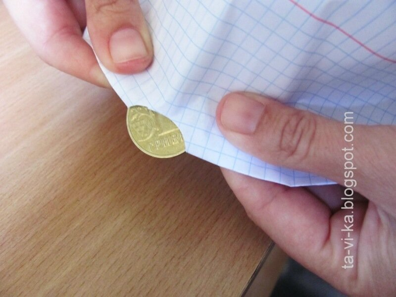 забавные опыты для детей с монетой