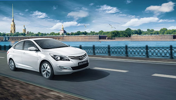 В России представили новейший Hyundai Solaris.