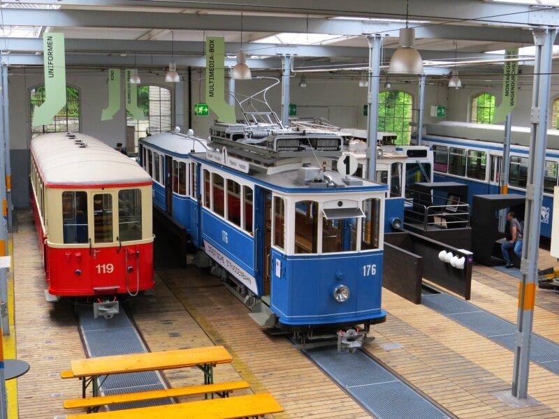 В городе есть музей трамваев,
