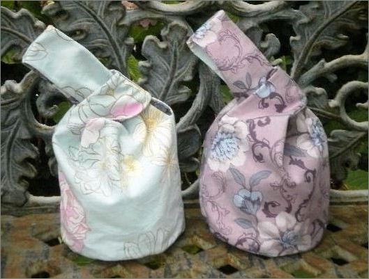 Japanese Knot Bag.  DIY step-by-step tutorial.
